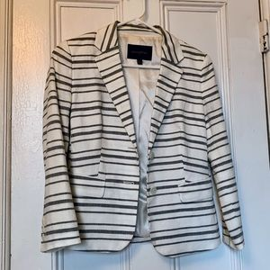 Banana Republic linen blend striped blazer